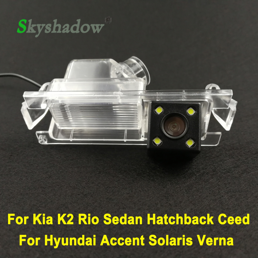 Für <font><b>Kia</b></font> K2 <font><b>Rio</b></font> Limousine Fließheck Ceed 2013 Hyundai Accent Solaris Verna <font><b>2014</b></font> I30 Auto LED Backup Wireless Monitor Hinten view Kamera image