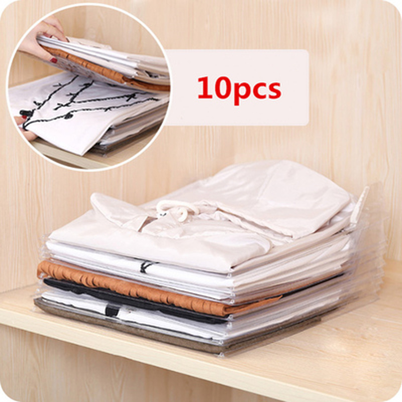 Simple 10PC Practical Clothes Organizer Fast Fold Board Cabinet Creative Travel Backpack Suitcase <font><b>T</b></font>-<font><b>shirt</b></font> File Storage <font><b>Holders</b></font> image