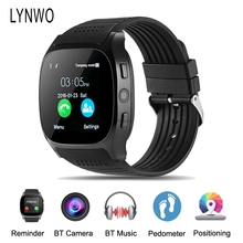Hot Sale! LYNWO T8 1.54-inch MTK6261D Bluetooth Pedometer TF Card Extend GSM Smart Watch Smartwatch Wristband VS Xiaomi Miband 2