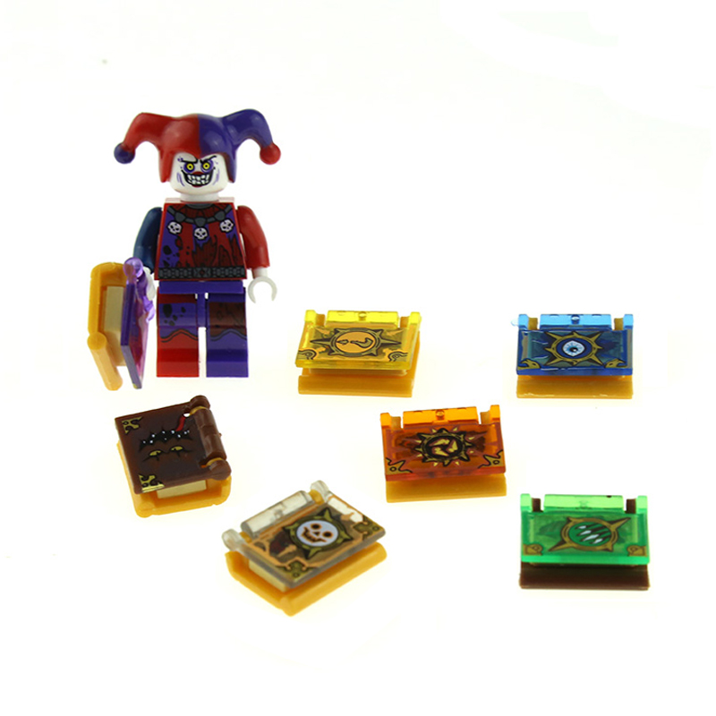 New 16Pcs/lot Luminous Nexus Knights Jestro Magic Books Toys Building Blocks Toys Bricks Gifts For Children Soon To Be Sold Out