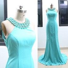 5a04cf02c90 Buy neck aqua prom dress and get free shipping on AliExpress.com
