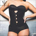 Hook Zipper Rubber Latex Waist Trainer Sexy Corsets and Bustiers bodysuit women Cincher Corset Tops Slimming sheath Shapewear