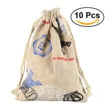 6106522ee 10 piezas algodón Candy regalo bolsas Cartoon Animal impreso bolsas de  regalo Favor de la fiesta