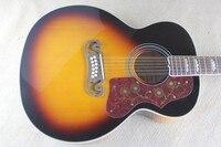 Fábrica + 12 cordas da guitarra acústica J200 Sunburst J200 acústico elétrica de 12 cordas 43 polegada super Jumbo Acústico guitarraguitar