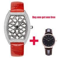 Новинка 2018 года классический полный алмазов часы кварцевые часы для женщин лучший бренд класса люкс модные женские часы водостойкие розово