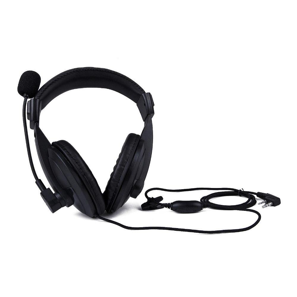 imágenes para Auricular de radio de alta resistencia con doble ptt vox auricular orejera en casco auricular para kenwood tk-3107 baofeng uv-5r radio