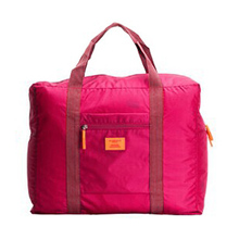 Red Nylon Foldable Travel Bags Handbags Waterproof Bags for Business and Travel Large Capacity Shoulder Bags
