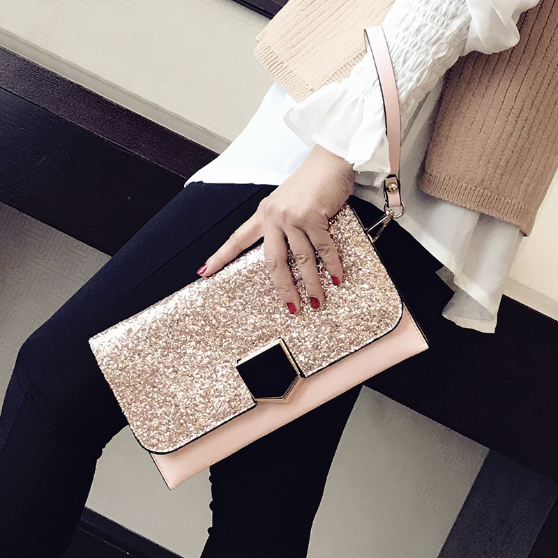 Clutches-Bags Sequin Purses Shoulder-Bags Female Evening Fashion Women for Party-Day