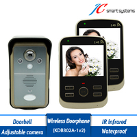 KDB302 1V2 Wall Mounted IP55 Waterproof Outdoor Interphone Apartment Video Door Phone Intercom Wireless System With