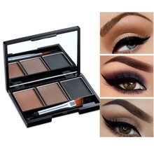 3 Colors Eyeshadow Palette Glamorous Smokey Color Eye Shadow Shimmer Glitter Smo