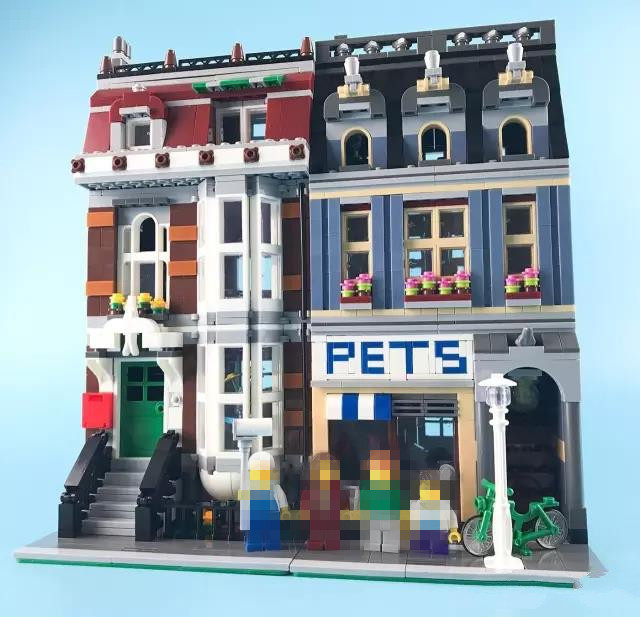2133pcs City Creator Pet Shop Supermarket Building Blocks Bricks Toys for Children Gifts Compatible DIY Model Figures Toys 10646 160pcs city figures fishing boat model building kits blocks diy bricks toys for children gift compatible 60147