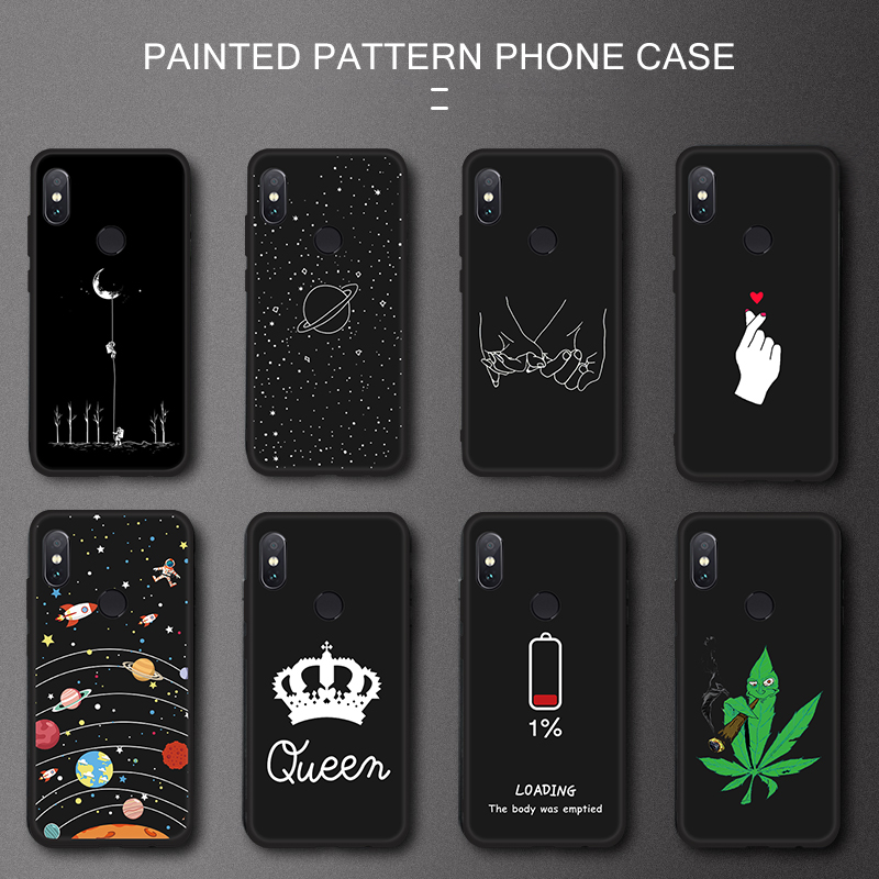 Phone Case For Xiaomi Redmi Note 7 8 8Pro Note 6 5 Pro S2 6A 5A 5 Plus Mi A2 8 Lite Pocophone F1 Max 3 2 Mix 3 2S Soft TPU Cover(China)