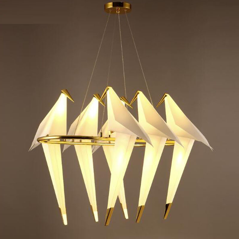Bird Chandelier Lighting: Modern Large Chandeliers Acrylic Bird LED Chandelier