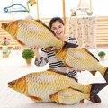 2016 Новый 3D моделирование Реальности Мягкая Животных Спинки Форме Рыбы украшения Подушки Смешно