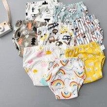 Хлопковые тренировочные штаны для детей, детские подгузники, многоразовые подгузники, моющиеся тканевые подгузники, подгузники, водонепроницаемое нижнее белье для малышей, 1 шт