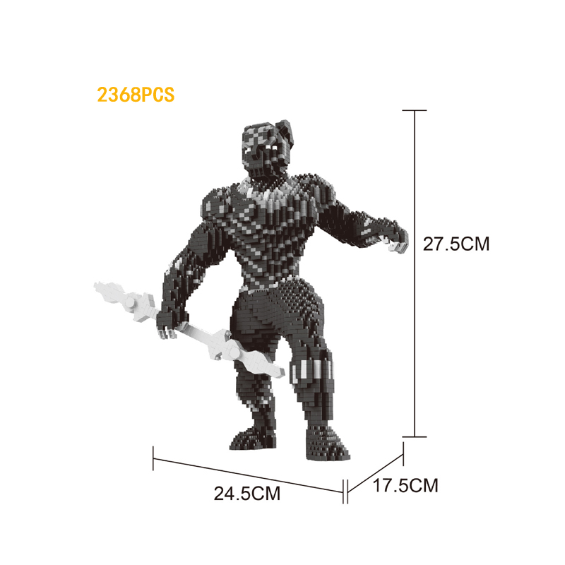 Hot super heroes marvel figures micro diamond building block black Panther nanoblock 27cm model bricks toys collection for gifts цена