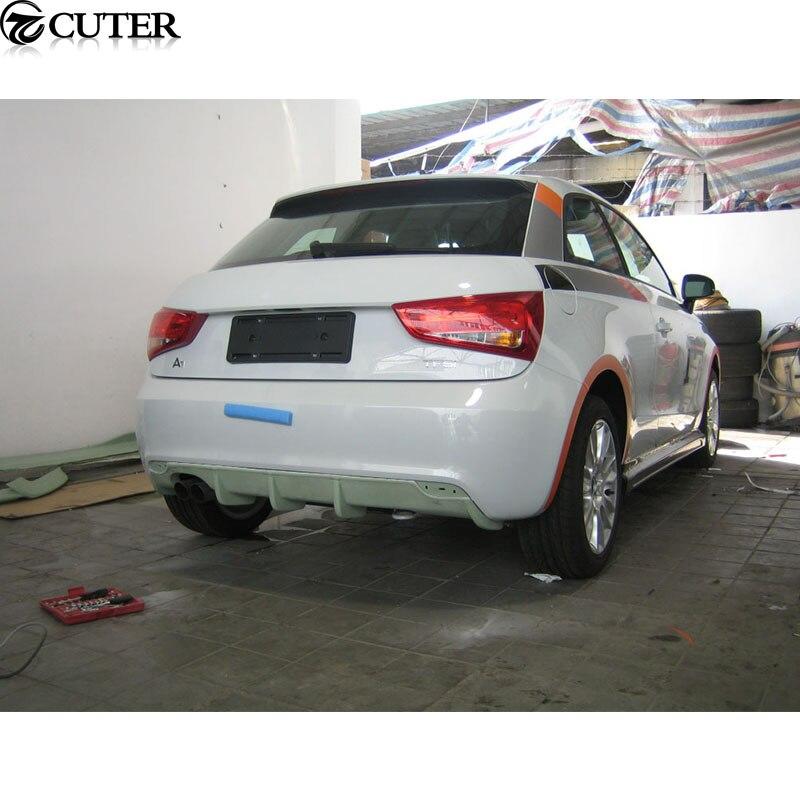 A1 хэтчбек углеродного волокна заднего бампера для губ Диффузор для Audi A1 Стандартный Р стиль 11-14