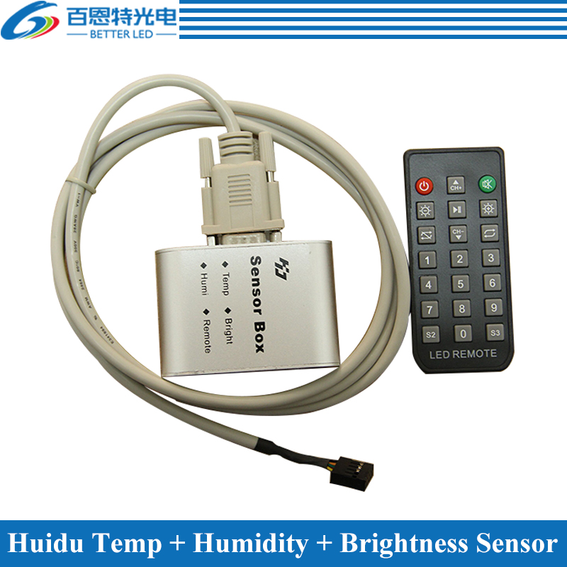 Temperature + Humidity + Brightness Sensor For Huidu Full Color LED Sign Display Controller
