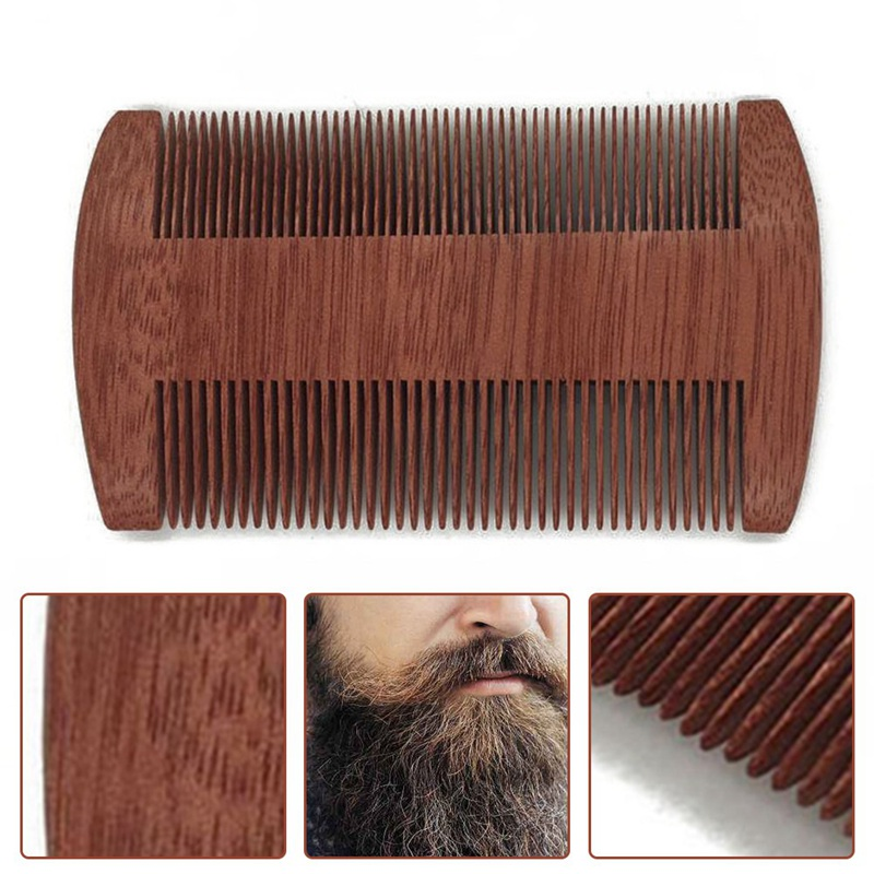 New Boutique Green Sandalwood Comb Gold Wire Sandalwood Bar Comb Handmade Beard&Hair Combs For Women Natural Beautiful Wood