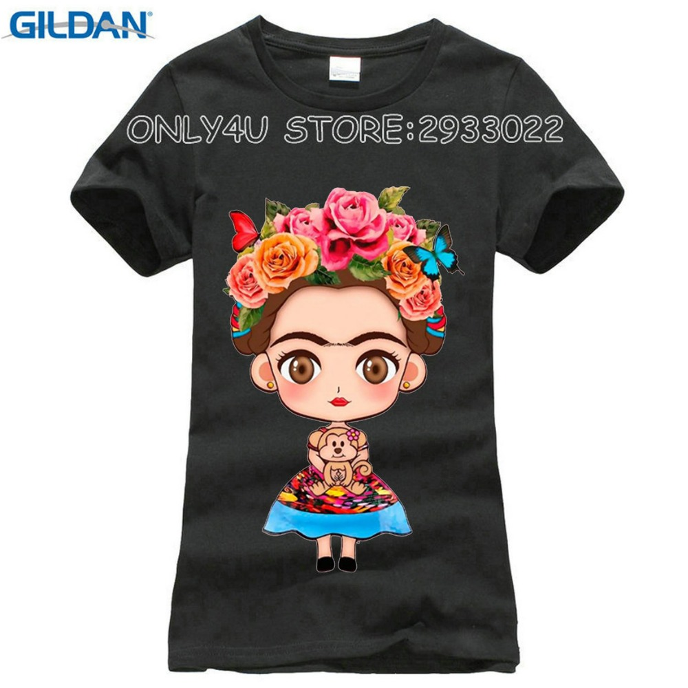 2017 Hot Sale Cartoon Mexican Frida Kahlo T Shirt Short Sleeve Women T Shirt Novelty Tee