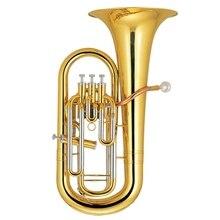 Bb euphonium 3+ 1 поршень латунный корпус лак отделка с ABS случае Музыкальные инструменты профессиональный