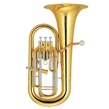 Bb Euphonium 3+1 Piston Brass Body Lacquer Finish with ABS case musical instruments professional цена