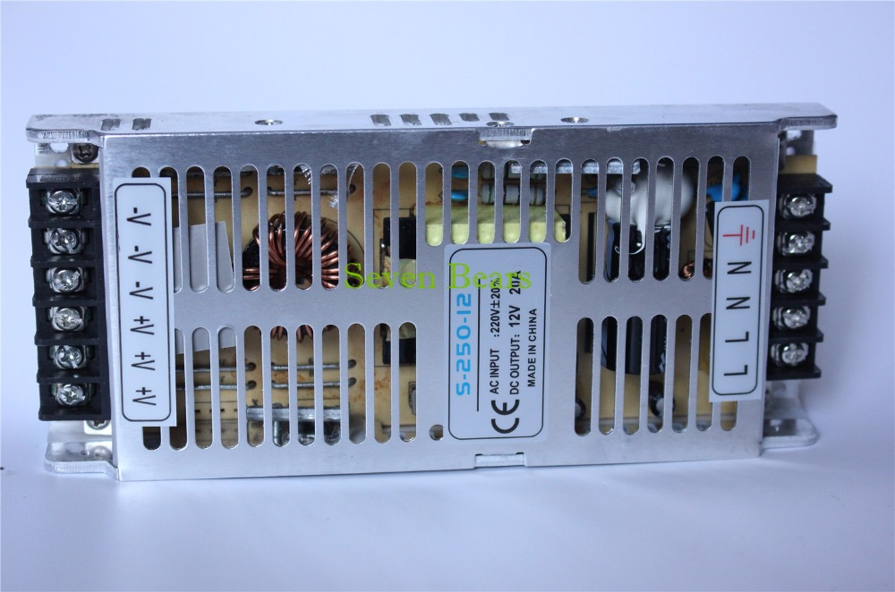 Best quality 12V 20A 240W Switching Power Supply Driver for LED Strip AC 220V Input to DC 5V free shipping best quality 360w switching power supply driver for cctv camera led strip ac 100 240v input to dc 80v 48v 40v 36v 24v 12v 5v
