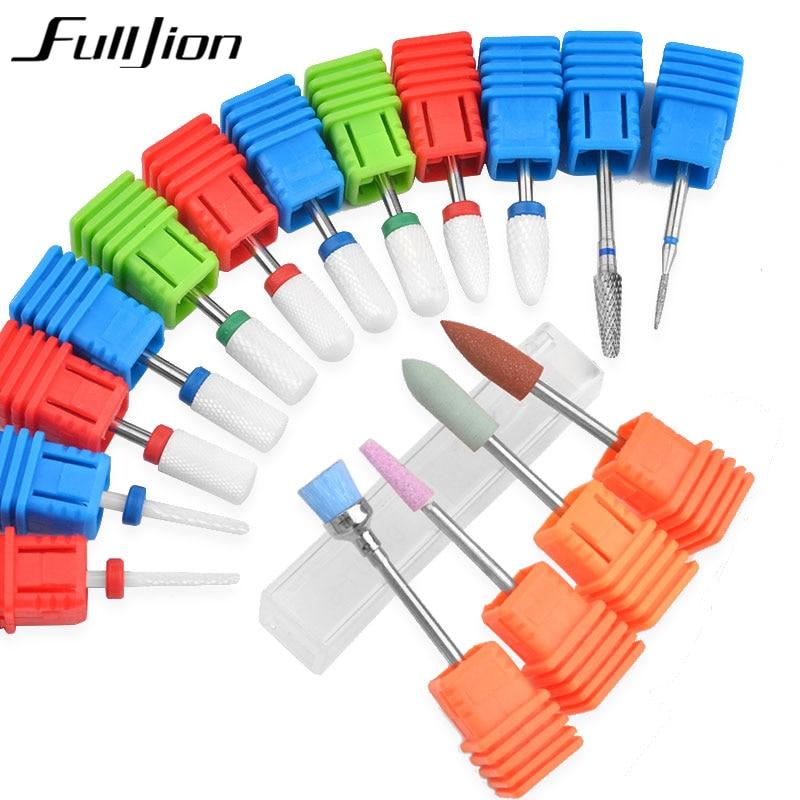 Fulljion Diamond Ceramic Corn Nail Drill Bits Milling Cutters For Manicure Machine Nail Cutter Electric Pedicure Accessories