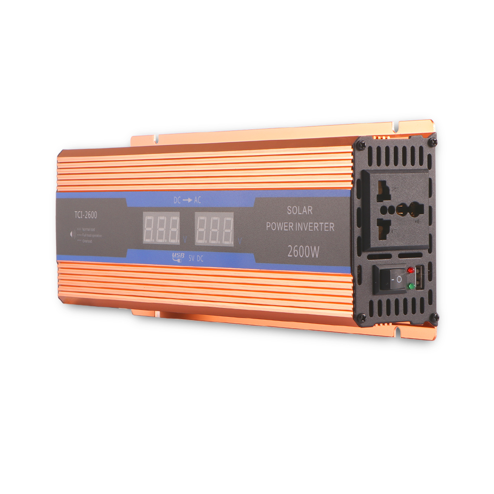 Car inverter 2600W DC 12 V to AC 220 V Digital Display of Protection Voltage against