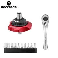ROCKBROS 12 In 1 Ratchet Wrench Bicycle Repair Tools Multifunction Tools MTB Road Carbon Bike Torque