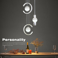 Modern Led Chandeliers Aluminum Metal Light Fixtures Fashion Living Bedroom Decorative Dining Kitchen Corridor Lamps