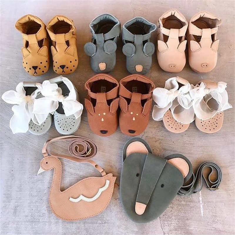 EnkeliBB Animal Leather Baby Walker Shoes Genuine Leather New Born Baby Shoe Panda/Bear/Bunny Australia Brand Kids Shoe