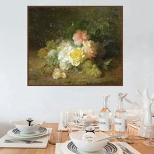 Flowers Home Decoration Yellow Roses and Fruits Landscape Oil Canvas Painting for Living Room Wall Art Poster Print Wholesale