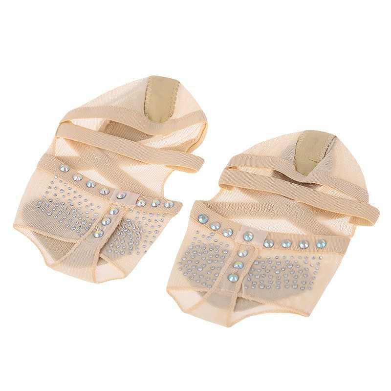 Accesorios para zapatos de danza del vientre para mujer Calcetines de Ballet protectores de talón para danza del vientre
