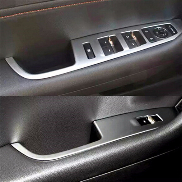 4pcs Abs Interior Door Handle Holder Window Switch Armrest