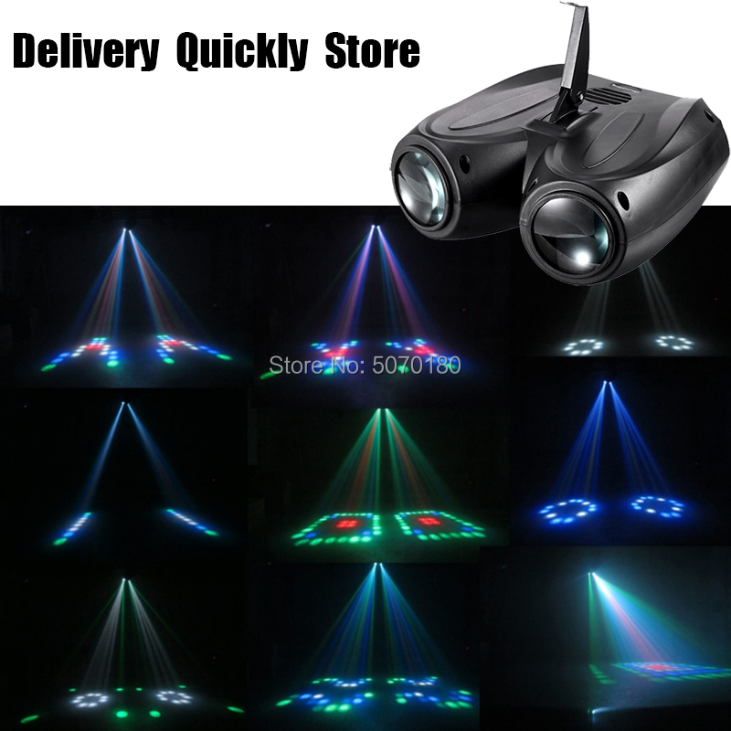 LED Double Head Airship Moon Flower Light Building Block Good Use For Home Entertainment Party KTV Night Club Dance