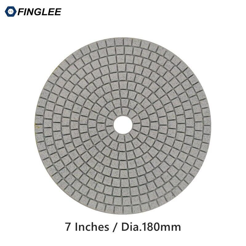 FINGLEE 1pcs 7 inch / 180 mm High Grade Granite,marble,Concrete Ceramic Stone work restoration Wet Diamond polishing pad Grit 30