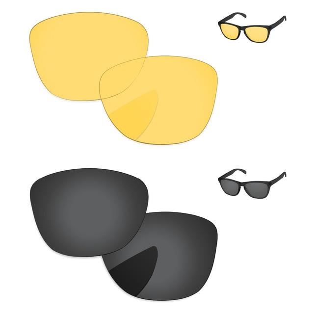 705aa96765 Negro y amarillo cristal 2 pares de lentes para Frogskins de gafas de sol  de Marco
