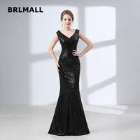 2018 New Cut out Evening Dresses Sleeveless Green Sequins V Neck Sexy Mermaid Cap Sleeve Custom Made Cheap Formal Prom Gowns