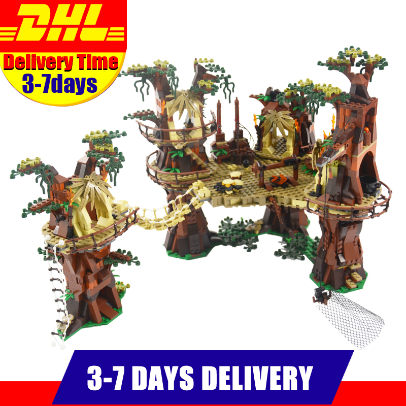 2018 New LEPIN 05047 1990Pcs Star Ewok Village Model Building Kits Set Blocks Bricks Compatible Children Toy 10236 a toy a dream lepin 15008 2462pcs city street creator green grocer model building kits blocks bricks compatible 10185