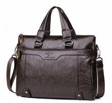 Мужская деловая кожаная сумка через плечо для 14 «ноутбука Мужская сумка через плечо портфель сумки мужские сумки-мессенджеры
