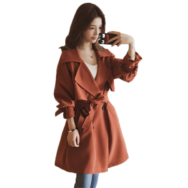 ffa8dbb935033 Trench coat female 2018 spring autumn casual women s trench coat long  outerwear loose women windbreaker five colored big size