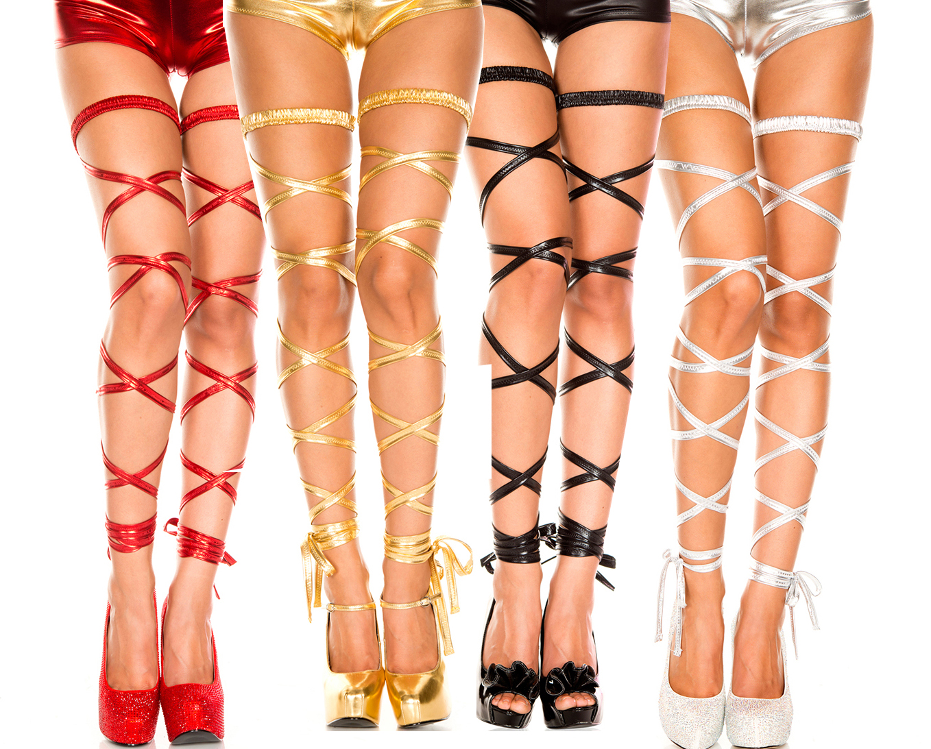 Buy sexy Metallic PVC Faux Leather glisten lingerie Stockings tights PANTY pole dancing nightclub Party  6290