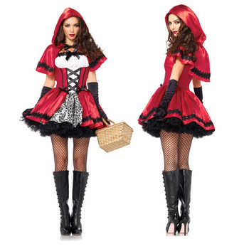 Adult Women Halloween Classic Little Red Riding Hood Costume Fantasia Carnival Party Cosplay Fancy Dress Outfit - DISCOUNT ITEM  37% OFF All Category