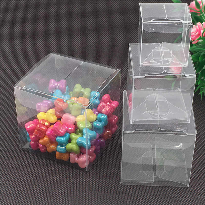 1pcs Plastic Clear PVC Square Boxes Transparent Waterproof Box Packaging Candy/Craft/Soap/Cake 4 sizes