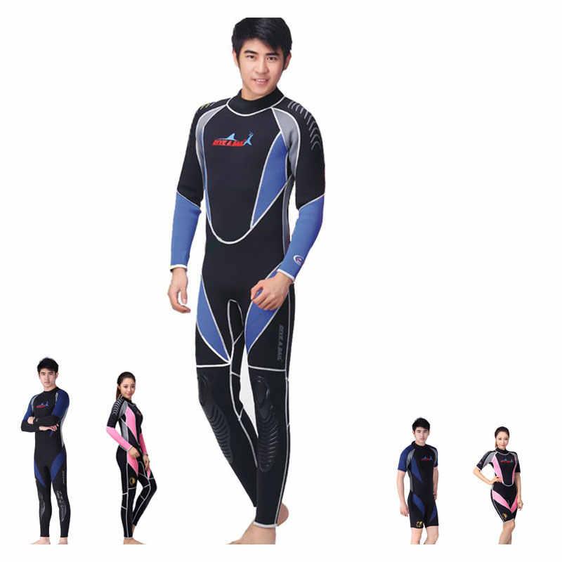 Los hombres y las mujeres Premium de neopreno de 3mm de cuerpo completo/Shorty traje Snorkeling surf invierno primavera natación trajes de neopreno traje