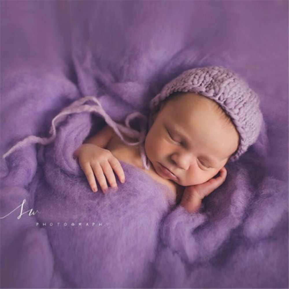 Merinowol Vervilte Wrap Wol Laag Zwervende Pluis Baby Pasgeboren Foto Prop Mand Filler Pluis Fotografie Prop Wol Mand Filler