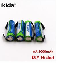 Fikida batera AA NI-MH 3000 mAh 1,2 V AA batera recargable 2
