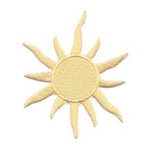 10 Chiếc Mới Đến Thiên Ngôi Sao Mặt Trời Thêu Miếng Dán Vàng Hay Quần Áo Áo Khoác Thêu May Tiếp Liệu