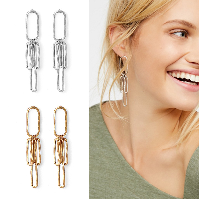 CHOW APINO simple geometric shap earrings fashion styles for lady